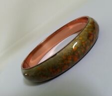 VINTAGE MATISSE RENOIR SIGNED COPPER ENAMEL BANGLE BRACELET  COLLECTIBLE JEWELRY