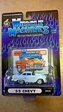 1/64 Muscle Machines 55 Chevy White 02-01