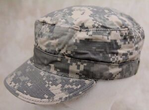 GENUINE US ARMY  ISSUE PATROL CAP ACU DIGITAL CAMOUFLAGE RIPSTOP MADE IN USA