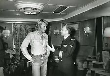 JOHNNY HALLYDAY PORTE-AVIONS FOCH 1979  VINTAGE PHOTO ORIGINAL #13