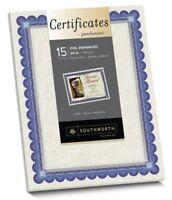 """Southworth Ct1r Foil Enhanced Parchment Certificates - 8.50"""" X 11"""" - Inkjet,"""