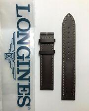 Original Longines 16mm Brown Genuine Leather Watch Band Strap # L682145808