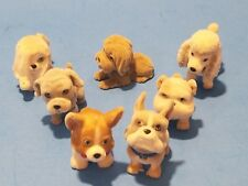 Puppy In My Pocket lot of 7 Puppies set Bulldog Poodle and more Corgi? flocked