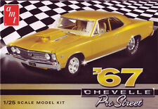 AMT 1/25 1967 Chevy Chevelle Pro Street Car SCALE PLASTIC MODEL KIT 876 AMT876