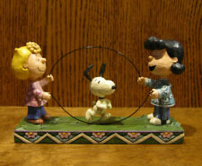 "Jim Shore PEANUTS #4055659 SALLY, LUCY, SNOOPY ""JUMP ROPE"" New From Retail Store"