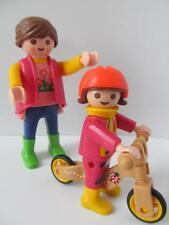 Playmobil DOLLSHOUSE/Aire De Jeux chiffres: Maman, petite fille & vélo équilibre NEUF