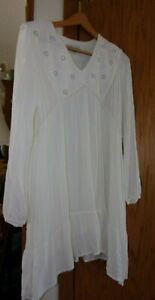 Knox Rose XXL Beautiful Long White Tunic Top
