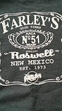 XL long sleeve hoodie sweatshirt, gray XL, Farley's Pub, Roswell, New Mexico