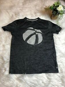 Old Navy Boys Youth Size XL Gray Basketball Theme Short Sleeve Graphic T-shirt