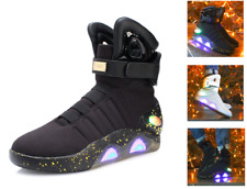 Mens BACK TO THE FUTURE WARRIOR Basketball LED LIGHT Sneakers Athletic New Shoes