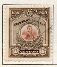 Peru 1905-21 Early Issue Fine Used 1c. 182354