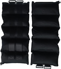 One Pair of 20-Pounds Adjustable Ankle Weights, Black