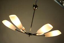 Decken Lampe Messing & Glas Stab Pendel Leuchte Vintage Sputnik Spider 50er