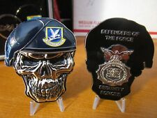 USAF Security Forces MP's SF Defenders of the Force Reapers Skull Challenge Coin