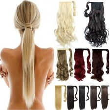 Hair wrap extensions ebay wrap around ponytail clip in pony tail hair extensions real as human hair sn03 pmusecretfo Images