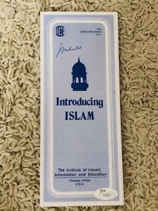 MUHAMMAD ALI AUTOGRAPHED INTRODUCING ISLAM PAMPHLET  RARE JSA FULL LETTER