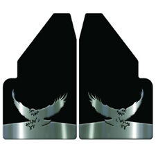 """Universal Mud Flaps 14"""" Wide Rear With Eagle Landing Weights For Full Size Truck"""