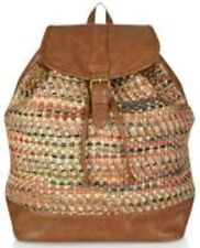 Monsoon Accessorize Woven Embroidered Backpack Bnwt Metallic Thread
