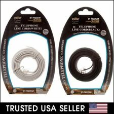 25 FT 25FT Feet RJ11 4C Modular Telephone Extension Phone Cord Cable Line Wire