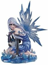 12 Inch Ice Fairy with Baby Dragon Hatching Statue Figurine Figure Fantasy Magic