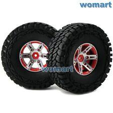 2 Stück RC 1.9 Off-Road Reifen Tires & Metal 1.9 Beadlock Rims für RC Crawler