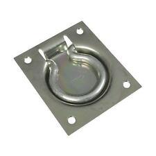 "5 PK Steel Zinc Plated 3"" X 3 1/2"" Trap Cellar Door Flush Ring Pull N203752"