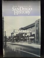 The Journal Of San Diego CA History Fall 2000 Volume 46 Number 4