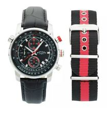 Rotary GS03641/04/KIT Mens Interchangeable Leather Strap Chronograph Watch. 381