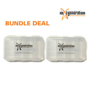 Pill Box BPA Free Large Double Sided 10 Compartment x 2 – Clear