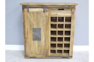 Industrial Wine Cabinet Kitchen Wine Bottle Storage Cupboard Side Cabinet 5405