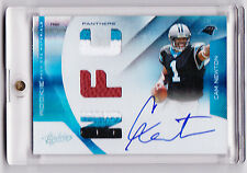 2011 Panini Absolute CAM NEWTON RPM Silver 3 Color Patch Autograph RC 9/25!