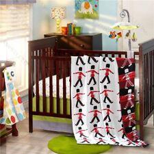 Little Soldier-100% Premium Cotton Kids Knit Blanket/Throw Rug w Cartoon Pattern