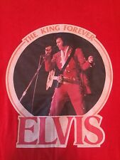 Vintage ELVIS THE KING 1977 Tour Concert Shirt CHED Youth Large