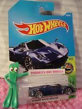 New! '17 PAGANI HUAYRA ROADSTER #290✰blue;j5✰Exotics✰2017 i Hot Wheels case M/N