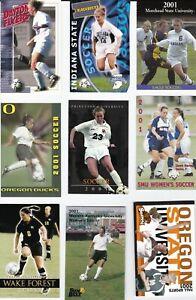 2001 NCAA Women's Soccer Pocket Schedules - Lot of 9