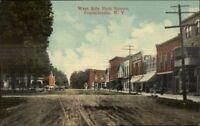 Franklinville NY Park Square c1910 Postcard