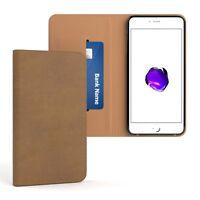 Tasche für Apple iPhone 8 / 7 Plus Cover Handy Schutz Hülle Case Etui Hellbraun