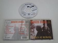 MARTIN BARRE/A TRICK DE MÉMOIRE(ZYX 20282-2) CD ALBUM
