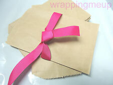 50 5x7 Cute Natural Kraft Paper Bags, Craft Bags, Wedding Party Bags, Gift Bags