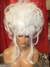 WOW VEGAS WIGS CORONATION updo piecey long tendrils look hot off the runway