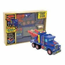 NEW MELISSA AND DOUG BUILDERS TOW TRUCK WOOD MODEL KIT