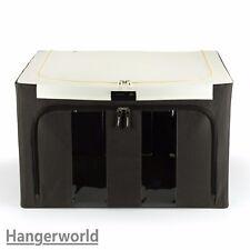 Hangerworld Grande 50cm Boîte de Rangement marron Couvercle Zippé Jouets