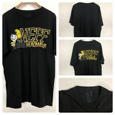 NEFF Neff Headwear Character Graphic Black T Shirt Size Large