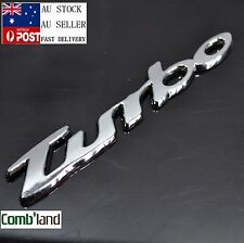 TURBO 3D ABS plastic chrome Car badge emblem sticker Sport Black Red 4x4,4WD