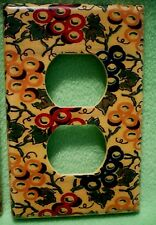 Vintage colorful Grapes & Grape Leaves designs wrapped paper outlet cover.