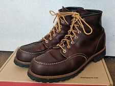 Red Wing 8146 Roughneck Moc Toe Boots Briar Oil Slick Leather