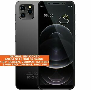 """ANICA S11S 3gb 32/64gb Octa Core 4.82"""" Face Id Dual Sim Android 9 4g Smartphone"""