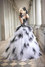 Satin Lace Strapless Ball Gown/Duchess Wedding Dresses