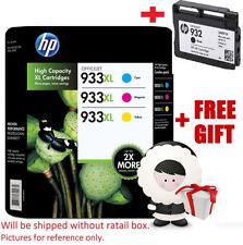 HP 933 XL + 932 BLACK Ink 4 Genuine Color Cartridges Cyan Magenta Yellow All2019