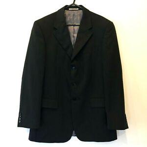 Van Heusen Mens Black Pinstripe 3 Button Blazer Jacket Chest 114